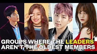 20 groups where the leaders aren't the oldest members