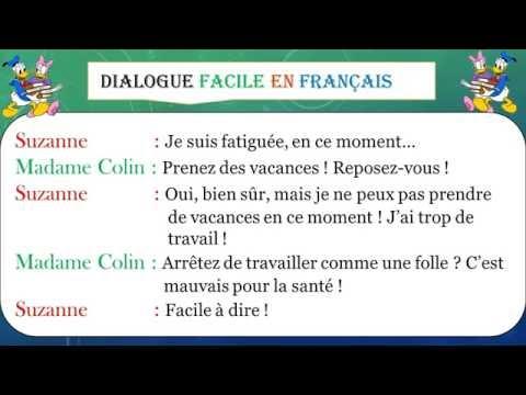 Dialogue facile en français 38 # learn french