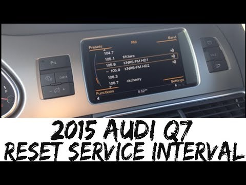 2012-2015 Audi Q7 Oil Change Service Reminder Light Reset