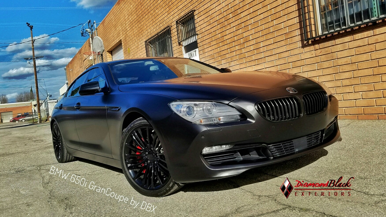 Project Bmw 650i Grancoupe Wrapped In Frozen Black By Dbx