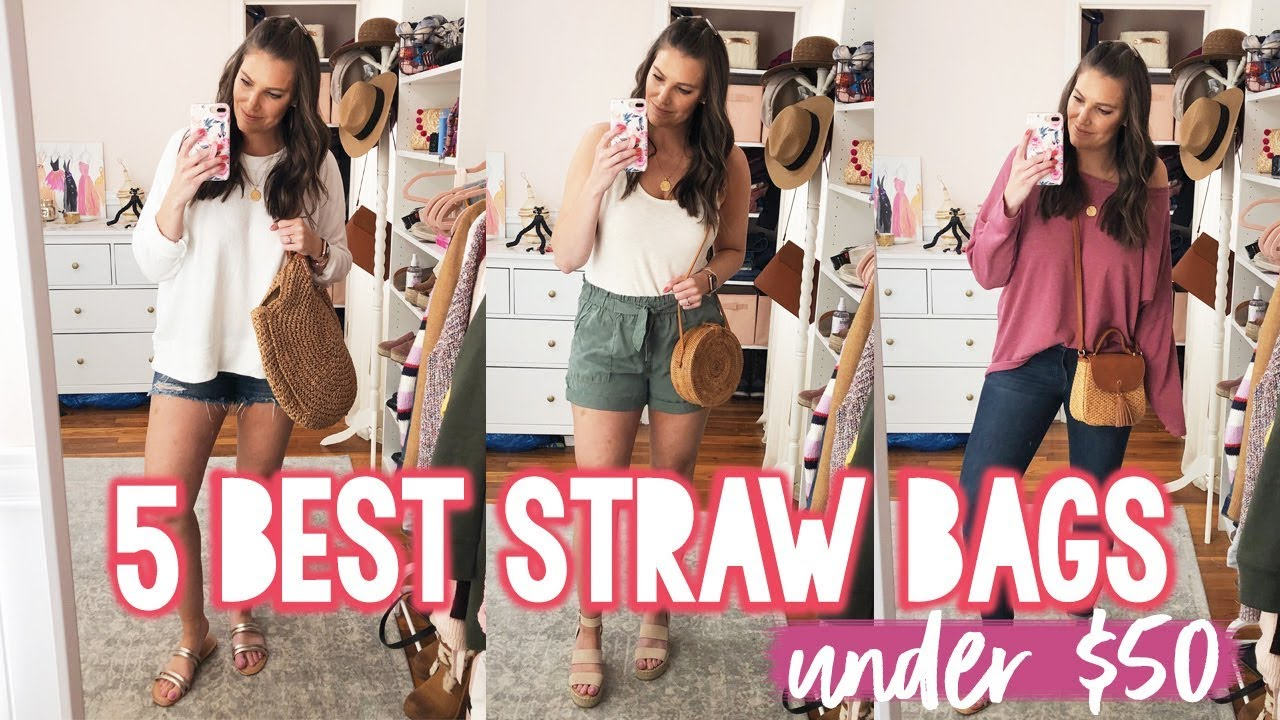 5 BEST STRAW HANDBAGS UNDER $50 + How to Style Them | Sarah Brithinee