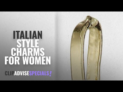 10 Best Italian Style Charms For Women: 14k Yellow Gold Italian Horn Charm