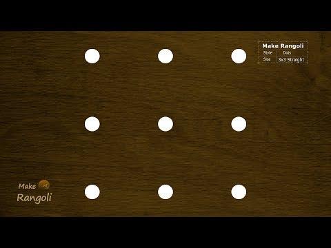 Beautiful Padi Kolam with 3x3 dots | Margazhi Kolam | Dhanurmasam Muggulu | Make Rangoli
