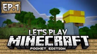 Survival Let's Play Ep. 1 - Our First Home! - Minecraft Pe (pocket Edition)