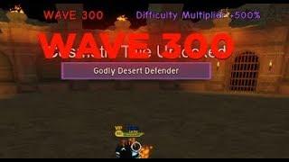 Roblox Dungeon Quest Wave Defence - Tempio del deserto dell'onda 300