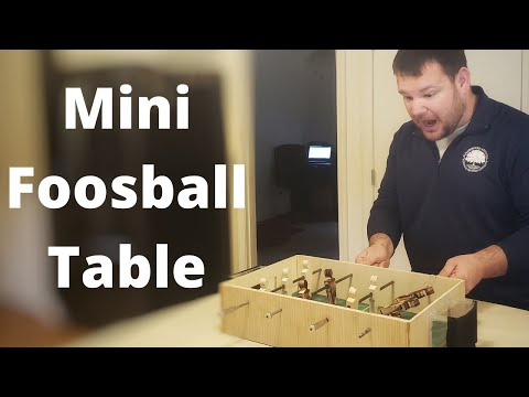Making A Mini Foosball Table With Epoxy Field//How To//DIY//Soccer Table//Table Football