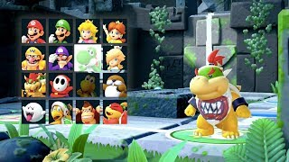 Super Mario Party - Whomp's Domino Ruins (Bowser Jr, Diddy Kong, Dry Bones, Goomba) | MarioGamers