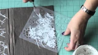 видео СП «Скрапбукинг-микс», этап 3 — страничка в духе стим-панка