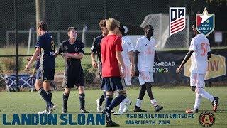 Landon Sloan USSDA U19 NCFC Academy vs Atlanta United FC March 9, 2019