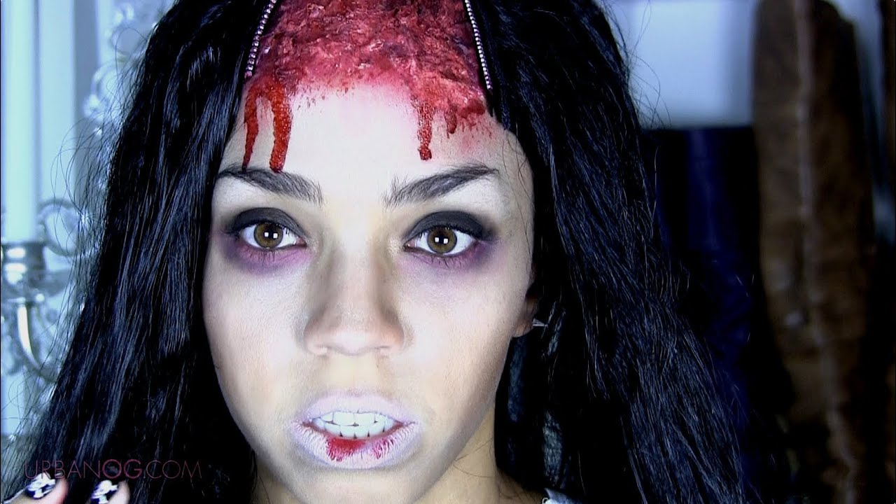 Zombie Doll Halloween Makeup Tutorial + Britney Spears Work Witch ...