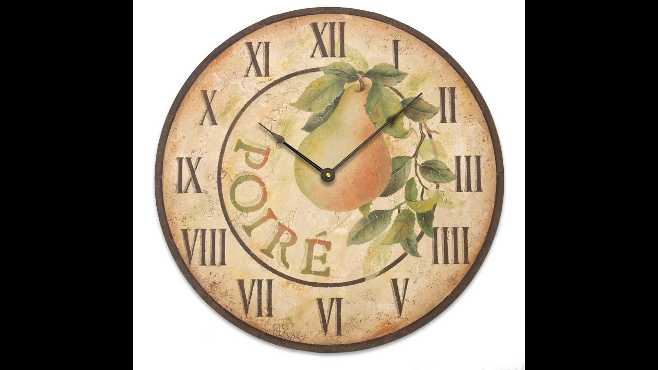 Pear Clock Tole and Decorative Painting by Patricia Rawlinson - YouTube