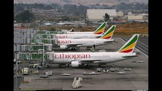 Walking around Bole Airport Addis Ababa, Ethiopia