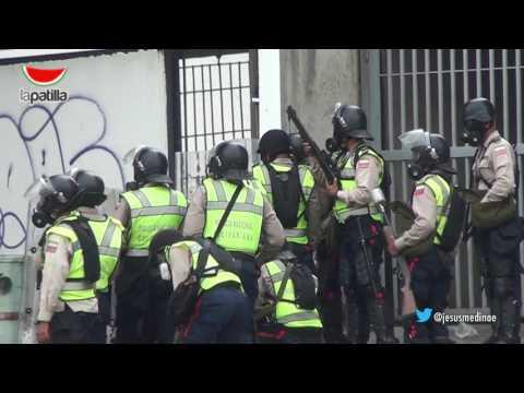 Resumen de la confrontación en Caracas en el día de hoy