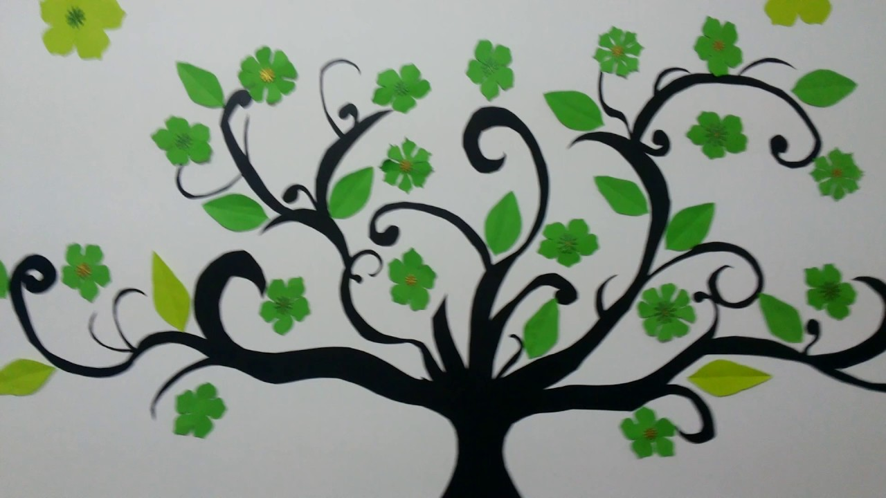 Paper cutting wall art - YouTube for Room Decoration With Paper Cuttings Step By Step  59nar