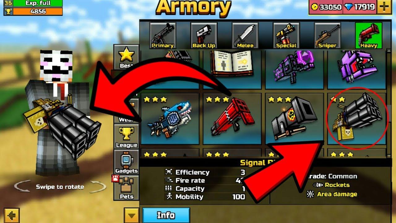 pixel gun 3d weapon ranks
