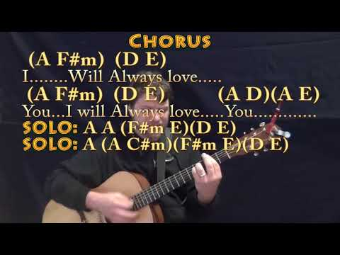 I Will Always Love You (Whitney Houston) Guitar Cover Lesson with Chords/Lyrics