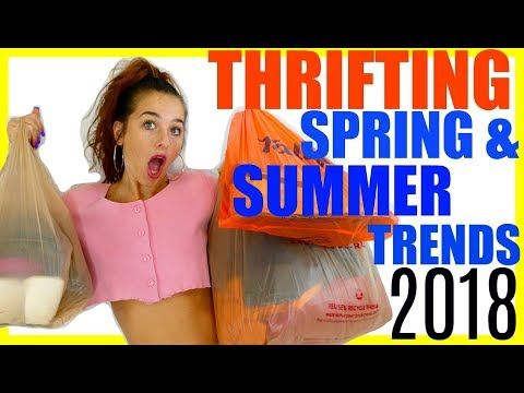 THRIFTING SPRING/SUMMER FASHION TRENDS 2018! (TRIP TO THE THRIFT)
