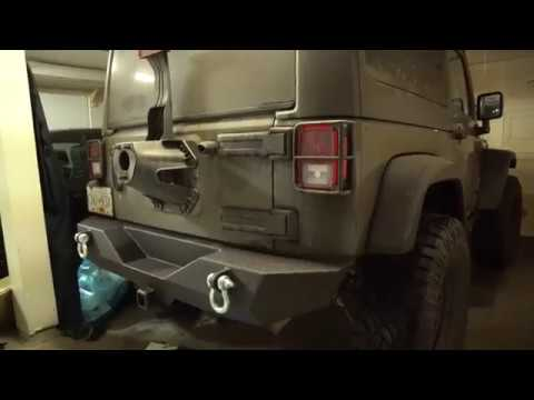 HOW TO REMOVE AND INSTALL A REAR BUMPER ON JEEP WRANGLER JK