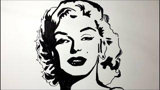 رسم مارلين مونرو على طريقة البوب ارت How To Draw Marilyn Monroe On Pop Art Youtube
