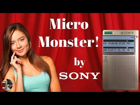 "Sony ICF-T46 AM FM ""Micro Monster"" Portable Radio Review"