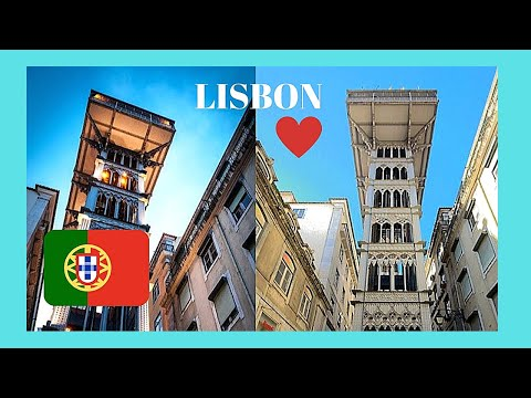 LISBON, the beautiful and very famous SANTA JUSTA LIFT, PORTUGAL