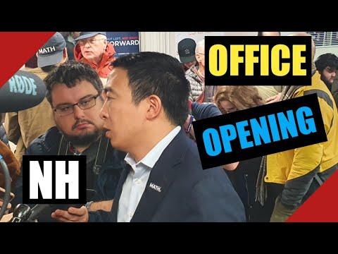 Andrew Yang Campaign Office Opening NH Livestream Manchester New Hampshire