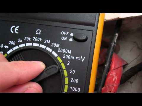 Antifreeze coolant checking with digital multimeter