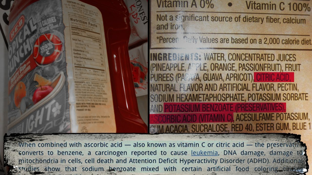 Artificial Fruit Drink Creates its Own Cancer Causing By-Product