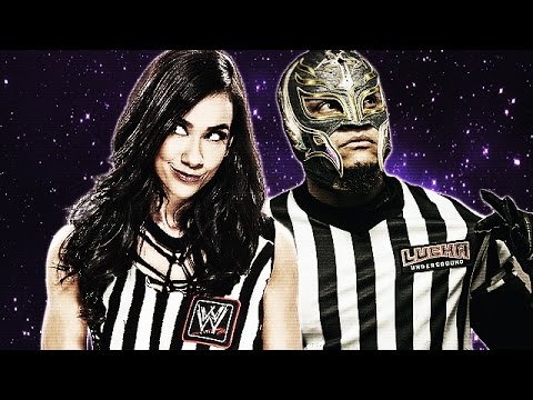 """Rey Mysterio and Aj Lee """"Glowing At Night"""" Ft. Angie Lee"""