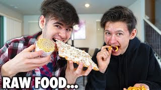 Eating RAW FOOD ONLY For 24 Hours - Challenge! **Hard**