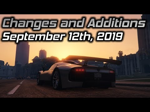 GTA Online Changes and Additions: September 12th, 2019