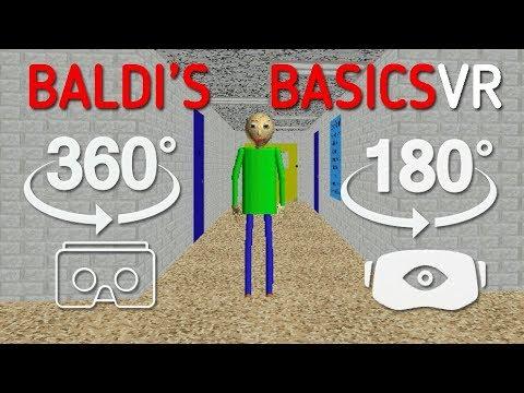 Baldi's Basics VR 180 Degree Widescreen Gameplay
