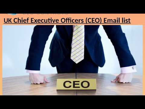 UK Chief Executive Officers CEO Email list