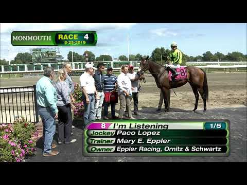 video thumbnail for MONMOUTH PARK 8-25-19 RACE 4