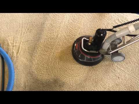 Nylon carpet cleaning of asphalt soiled floors
