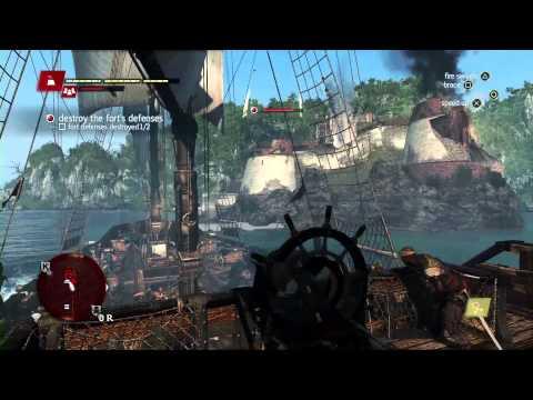 Assassins Creed 4: Black Flag - Naval Fort Walkthrough Gamescom 2013 - Eurogamer