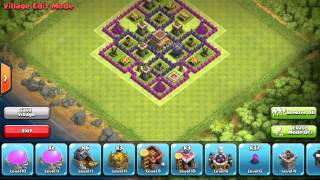 Clash Of Clans - Town Hall 8 Trophy Base (October UPDATE)