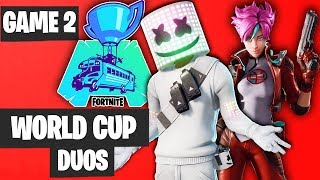 Fortnite World Cup DUO Game 2 Highlights [Fortnite World Cup Highlights]