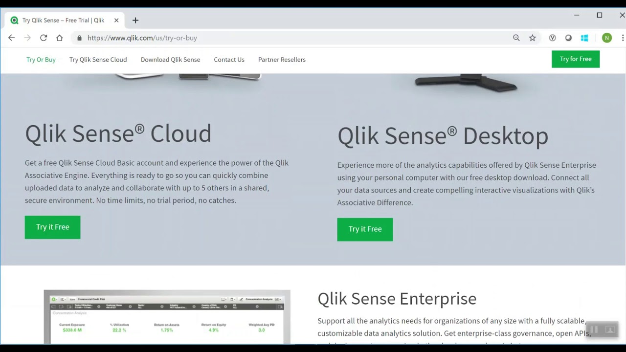 QlikSense Desktop and Server Download and Installation Explained in 3  minutes