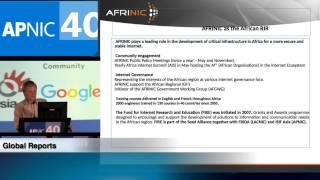 APNIC 40 - Global Reports