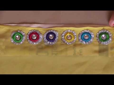 6e298d12c Diy Kundan & Stone Work On Saree By Self Hand Embroidery Work YouTube