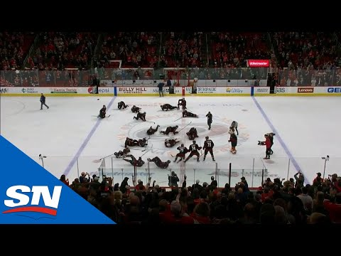 Carolina Hurricanes Drop Like Dominoes In Post-Game Celebration