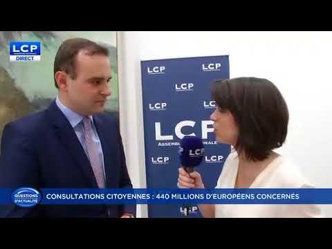 Itw LCP sur les consultations citoyennes et l'intervention du PR à Strasbourg