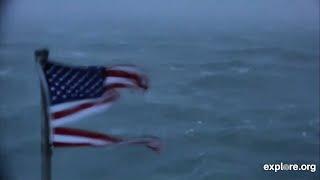 Timelapse: Florence whips a flag