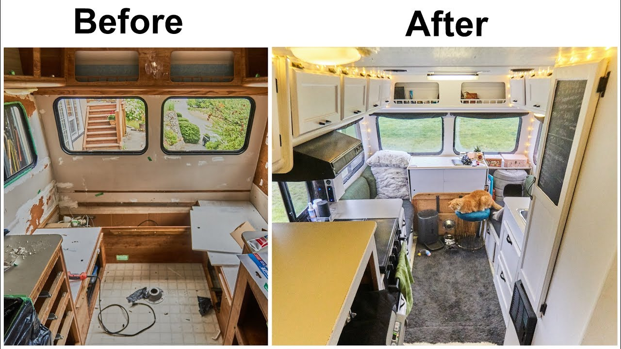 Timelapse Build From Outdated Motorhome To Beautiful
