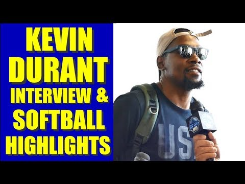 KEVIN DURANT interview & highlights at Warriors Javale McGee Celeb Softball Game JUGLIFE Amber Rose