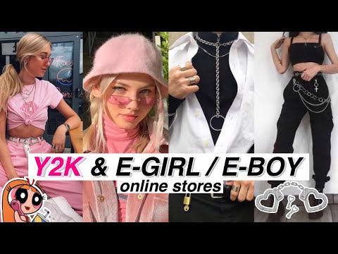 Y2K & E-GIRL, E-BOY AESTHETIC ONLINE STORES //Part. 4