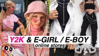 Y2k E Girl E Boy Aesthetic Online Stores Part 4 Youtube