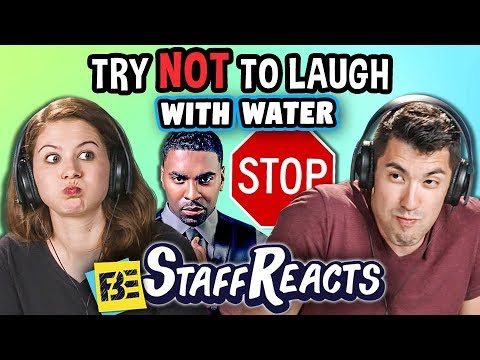 Try to Watch This Without Laughing or Grinning WITH WATER #9 (ft. FBE STAFF)