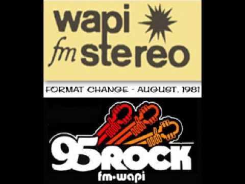 WAPI-FM / 95 ROCK Birmingham, AL Format Change (August, 1981)